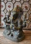 Bronze statue of lord ganesha remover of obstacles and bringer of wisdom